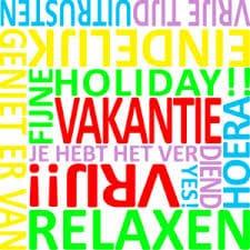 vakantie tekst gekleurd